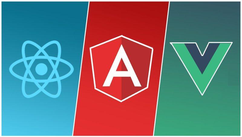 React vs Angular vs Vue Javascript framework