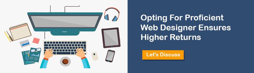 Hire Web designer CTA
