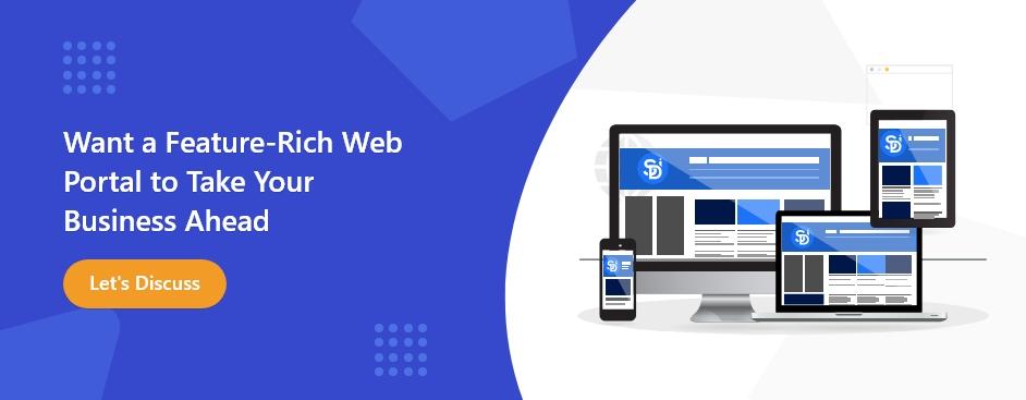 web portal development CTA