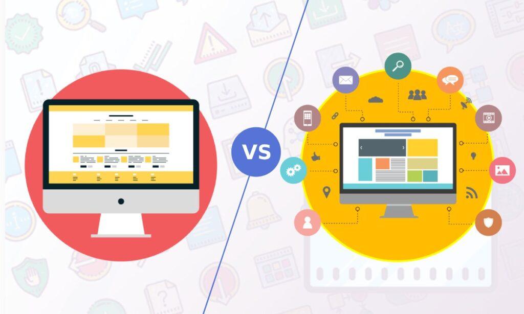 websites vs web portals