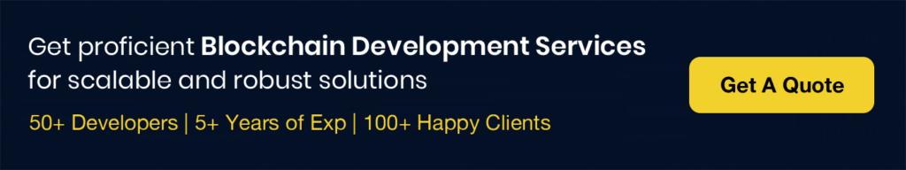 Blockchain Development Services CTA